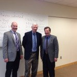 Drs. Benjamin Greene, Barton Bernstein, and Gary Hess at the Gary Hess Lecture