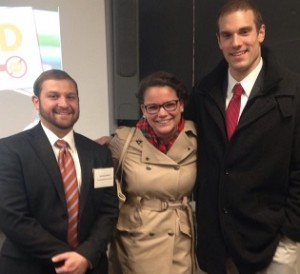 Michael Ginnetti, Lanna Demers, and Alex Sycher present at the University of Toledo's Phi Alpha Theta Colloquium
