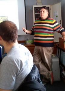 Joe Faykosh presenting on doctoral programs