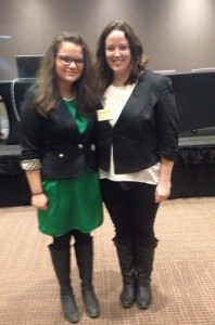 Lanna Demers and Liz Adamo at the Africana Studies conference