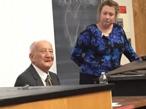 Leslie Schwartz and Dr. Beth Griech-Polelle