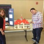Rachel Pawlowicz and Joe Faykosh judging History Day exhibits