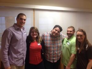 Alex Sycher, Rachel Pawlowicz, Joe Faykosh, Michael Ginnetti, and Alex Kuznicki serving as History Day judges