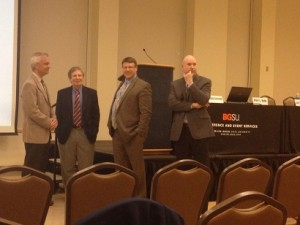 Dr. Peter Hahn, Dr. Gary Hess, Dr. Dwayne Beggs, and Dr. Benjamin Greene