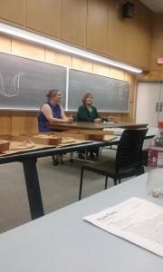 Heather Golden, Jan Larson McLaughlin, editor of the Sentinel Tribune.
