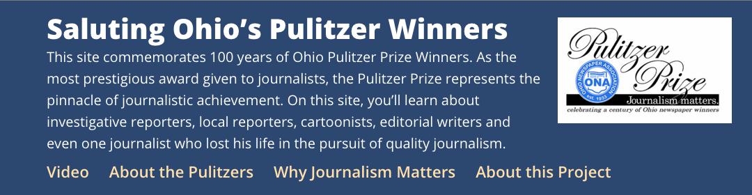 ONA Ohio Pulitzer website header