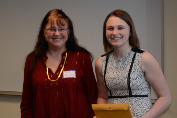 The Alumni Advisory Board scholarship was given to Audra Delaney.