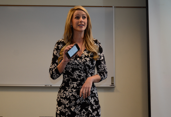 Jessica Dill, a 2008 Broadcast Journalism graduate, was given the Currier Young Professional Award. Jessica is morning show reporter for WJW-TV in Cleveland.
