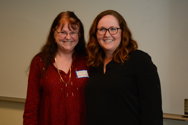 Lily Bartell, shown with multiplatform sequence head Dr. Nancy Brendlinger, won the Multiplatform Sequence Award.