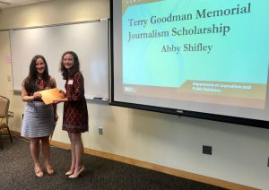 Goodman Scholarship Cassandra Goodman and Abigail Shifley