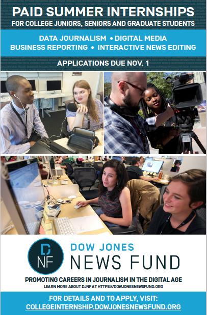 Dow Jones Internship Poster