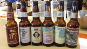 A sample of six different Bell's beers.
