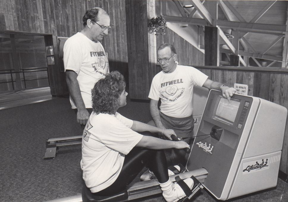 Dr. Bowers and Others Using Equipment