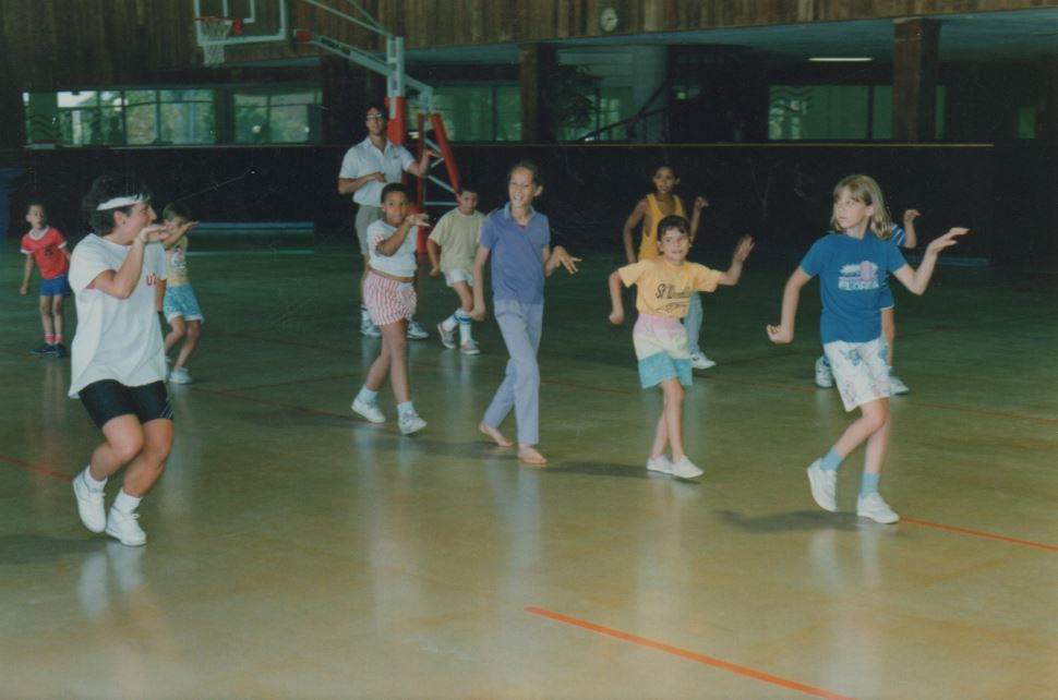 Kids Learning to Dance at Camp
