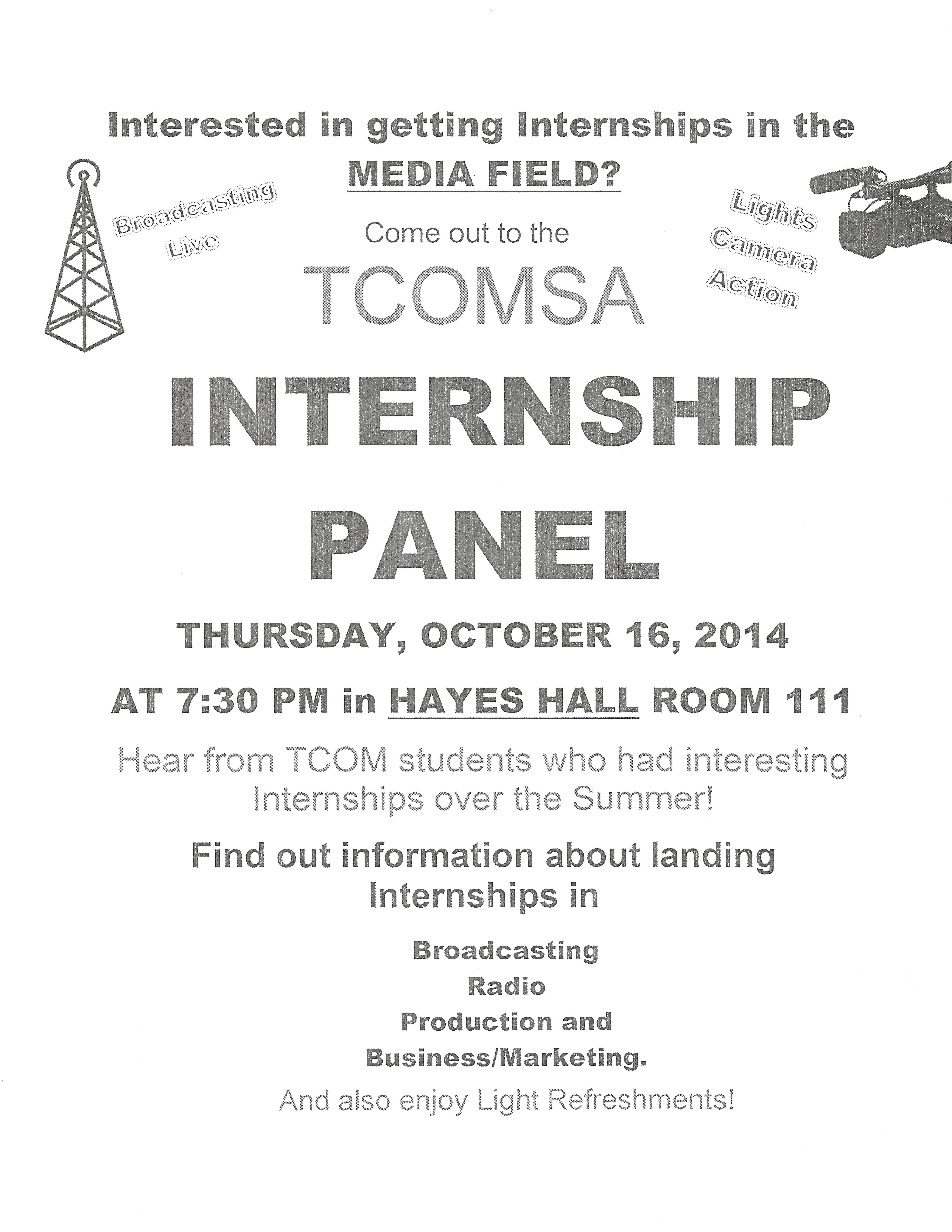 TCOM Internship Panel