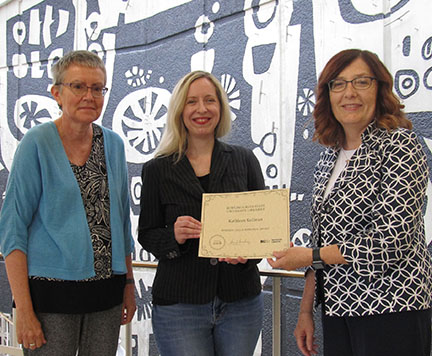 Kathleen Kollman receives 2018 Roberta Gellis Memorial Paper Award
